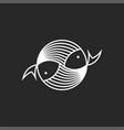 fish logo seafood restaurant menu round icon vector image