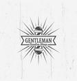 gentleman barber shop vintage emblems vector image vector image