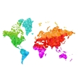 Geometric World Map in Colors vector image vector image