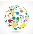 Globe consist of color circles vector image vector image
