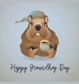 groundhog day of cute cartoon vector image vector image