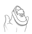 hand drawn kids shoes it can be used for vector image
