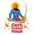 Happy Guru Gobind Singh Jayanti festival for Sikh vector image vector image