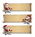 Happy Santas Papyrus Presenting Set vector image vector image