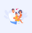 hugging family vector image vector image