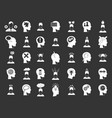 human idea icon set grey vector image