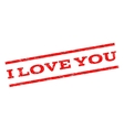 I Love You Watermark Stamp vector image