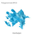 isolated icon azerbaijan map polygonal vector image vector image