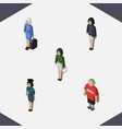 isometric person set of pedagogue guy girl and vector image vector image