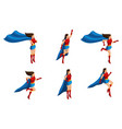 isometry set of superhero girls in suits 3d chara vector image vector image