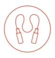 Jumping rope line icon vector image