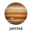 jupiter planet icon realistic style vector image