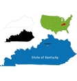 kentucky map vector image vector image