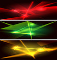 laser beams horizontal banner set vector image