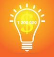 Light bulb - idea concept vector image
