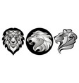 lions set lion head logo vector image vector image