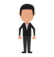 man with elegant suit vector image