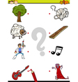 match pictures education task vector image vector image