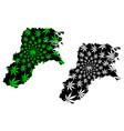 north kalimantan subdivisions indonesia vector image vector image