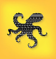Octopus with pattern print tribal vector image vector image