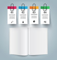 paper book - business infographic vector image vector image