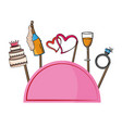 party booth props vector image