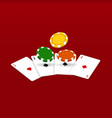 playing cards and casino chips vector image vector image