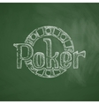 poker icon vector image