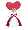 queen of hearts alice in wonderland character vector image