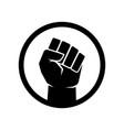 raised fist symbol black lives matter fist sign vector image