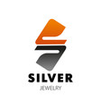 s letter icon for silver jewelry company vector image