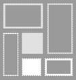 scallop postcard border rectangle template vector image vector image
