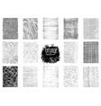 set grunge textures vector image