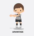 soccer advantage signal vector image vector image