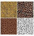 spotted cat fur patterns vector image vector image