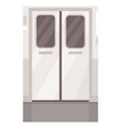 train metallic door entrance semi flat vector image