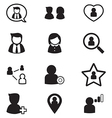 User Avatar icons set for social network vector image vector image