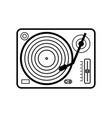 vinyl player icon isolated on white background vector image