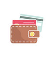 wallet and credit cards single icon vector image vector image