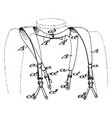 brace style suspenders are fabric or leather vector image