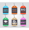 A set of tags in a retro style vector image vector image