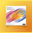 abstract colorful cover template with gradient vector image vector image
