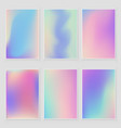 abstract holographic iridescent foil texture set vector image vector image