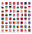 all european country flags icons square shape vector image vector image
