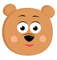 bear smiling on white background vector image vector image