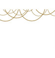 beautiful gold beads vector image vector image