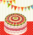 birthday cake with kiwi vector image