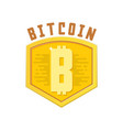 bitcoin bage digital money blockchain finance vector image