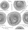 Black and white hand drawn endless background vector image