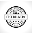 Black stamp with the text free delivery Fast vector image vector image